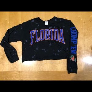 Victoria's Secret Pink Cropped Florida Gators tee